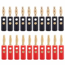 20pcs 4 мм аудио колонка, проводной кабель-адаптер кабель Разъем для подключения типа банан позолоченный
