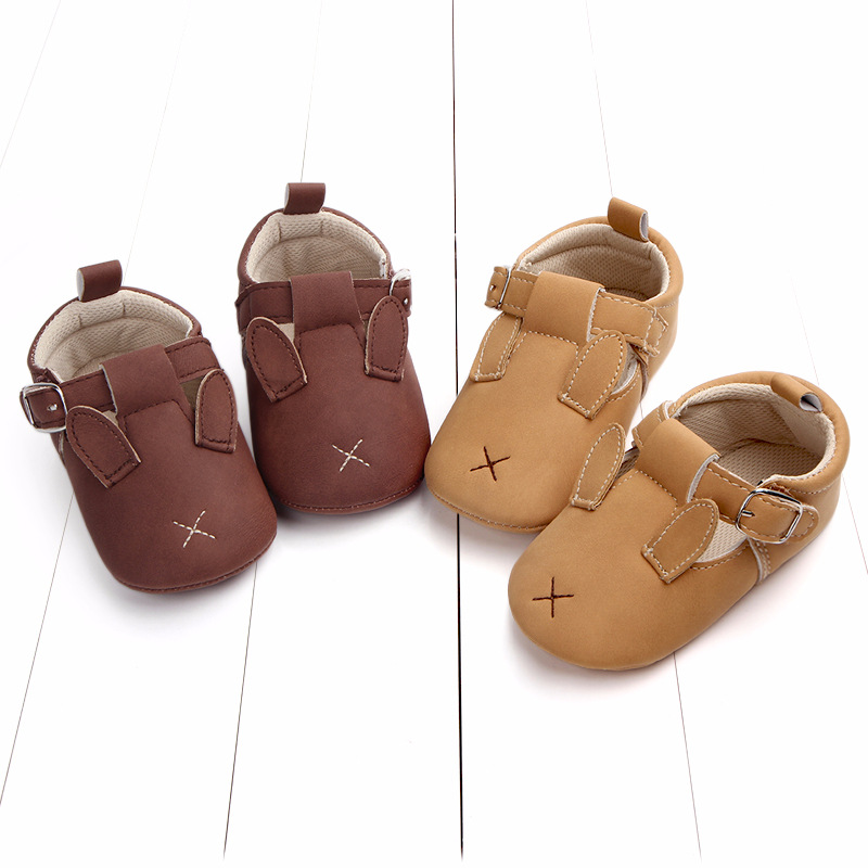 Baby First Walkers Matte leather Shoes for Baby Girl Boy Cartoon Animal Newborn Slippers Footwear Booties Kids Gift Child Shoes (27)