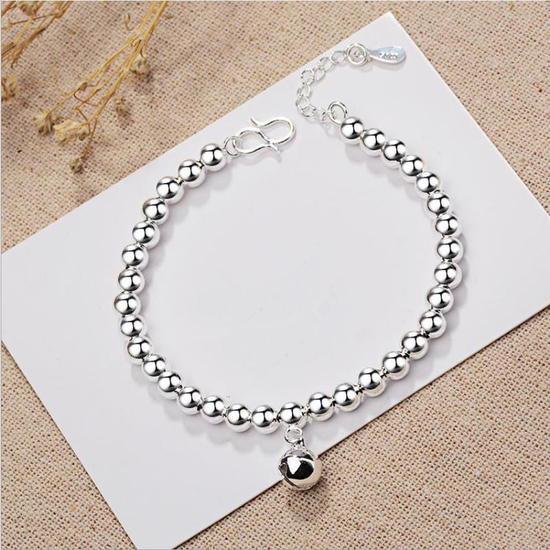 Everoyal New Arrival Lady Bell Siver Bracelets For Women Accessories Fashion 925 Silver Bracelets Girls Birthday Festival Gift in Charm Bracelets from Jewelry Accessories
