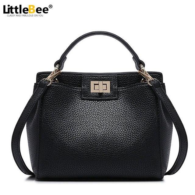 2016 Fashion Women Peekaboo Bag Handbags Litchi Ladies Messenger Bag Crossbody Bag Shoulder Designer Tote Bag Bolsos Mujer de