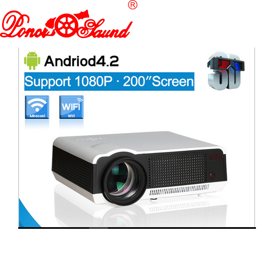 Poner Saund Full Hd New Mini Projector Proyector Led Lcd: Poner Saund New Projector Full HD LED LCD WiFi 3D