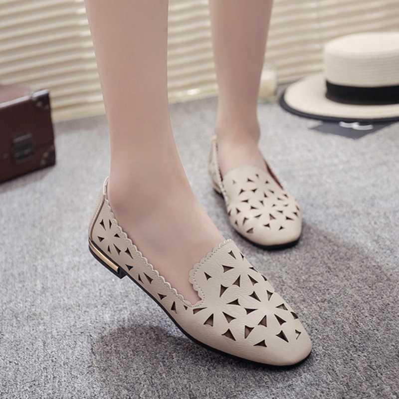 COOTELILI 35-39 Primavera Casual Pisos Women Shoes Slip-On Mocasines Superficial