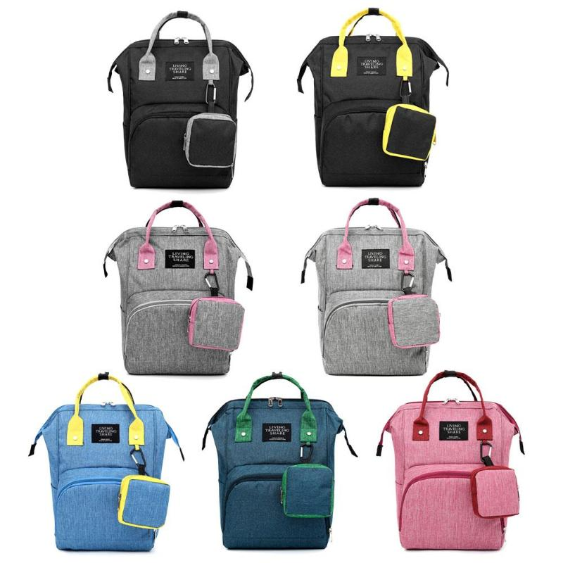 2020 New Fashion Mummy Diaper Bag Stripe Large Capacity Mommy Backpack Women Travel Shopping Nursing Storage Nappy Organizer Bag