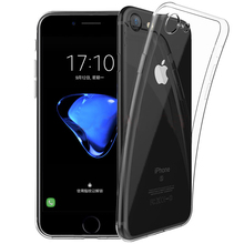 Ultra Clear Gel TPU Transparent Case For iPhone 7 7plus Case Soft Flexible Skin Scratch-Proof Bumper Case for Apple iPhone 7 Bag rock ultra thin tpu soft case for iphone 7plus transparent black