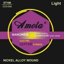 Elixir .010-.046 Nanoweb 12052 Электрогитарлы гитара гитара бөліктері Тегін жеткізу