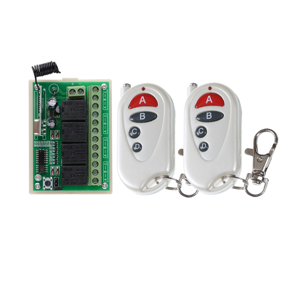 DC12V 4CH Wireless Remote Control Switch System transmitter and receiver radio receiverl tqm in engineering education