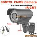 960 H 900TVL Com Filtro IR-CUT Zoom/Foco 2.8-12mm Varifocal Cor Imagem de Visão Noturna À Prova D' Água Ao Ar Livre IR Dome Câmera de Segurança