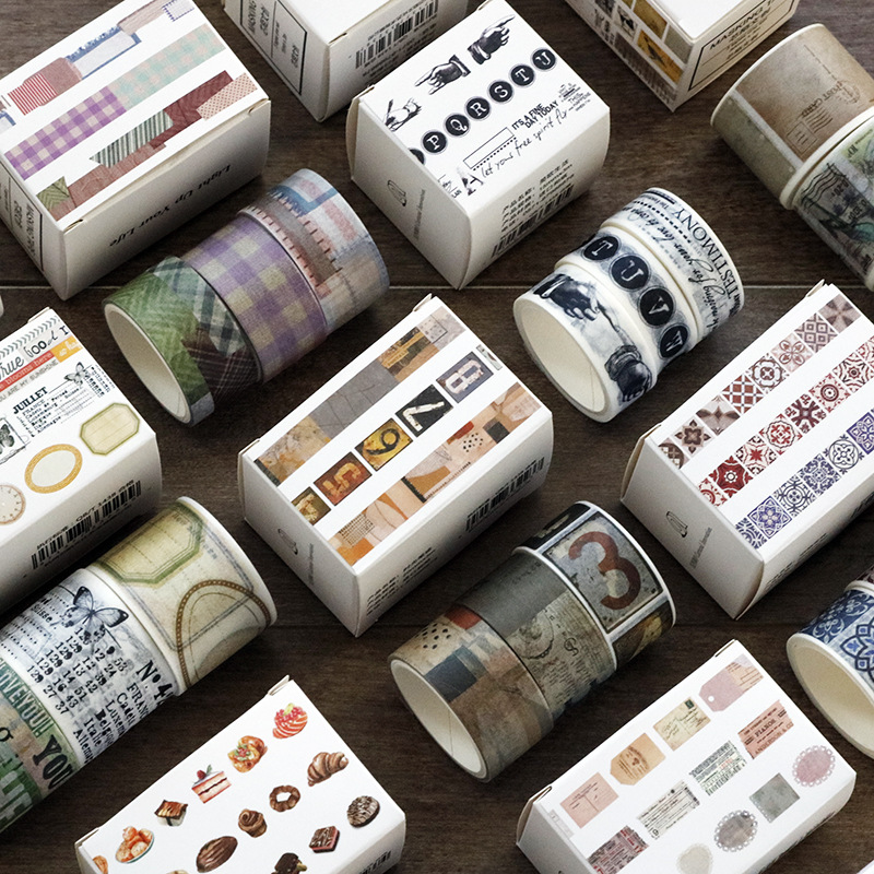 3 Rolls/pack Washi Tape Set Love Life Theme Paper Masking Tapes Japanese Washi Tape DIY Scrapbooking Sticker