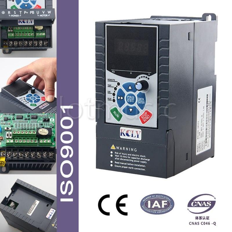 1,5kw 2HP VFD 7A 220 V monophasé variateur de vitesse VSD lecteur inverseur AC avec Interface de Communication RS-485