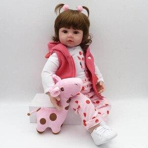Image 3 - NPK כמו בחיים אוסף שינה תינוק בובת Reborn סיליקון גוף בובת תינוק סימולציה בובת בית לשחק צעצוע חמוד בובת 58CM גדול גודל