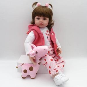Image 3 - NPK Реалистичная коллекция, Спящая детская кукла, силиконовая кукла для тела, кукла симулятор, игрушечный домик, милая кукла 58 см, большой размер