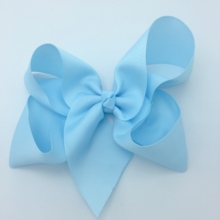 1 Pcs 6 Inch  Colorful Kids Girls Big Solid Ribbon Hair Bow Clips With Large Hairpins Boutique Hairclips Accessories