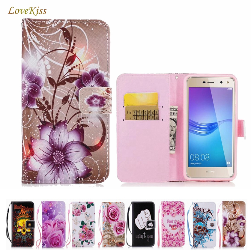 Leather Wallet Phone <font><b>Case</b></font> For Huawei P8 P9 P10 P20 Lite Plus Y5 Y6 Pro 2017 <font><b>Honor</b></font> 8 9 Lite 6C Pro 6A 7A 6X <font><b>7X</b></font> 8X Mate 10 Cover image