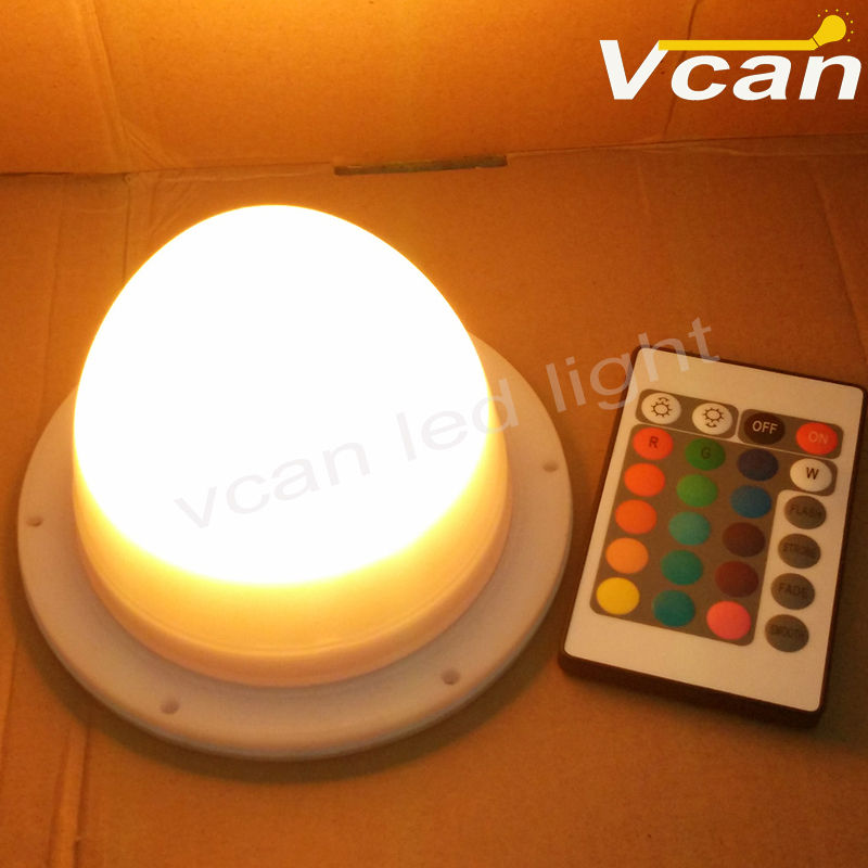 10PCS DHL Free Shipping Factory Wholesale RGBW 38LEDS cordless Super Bright Wedding Favor Vase Night Light Base