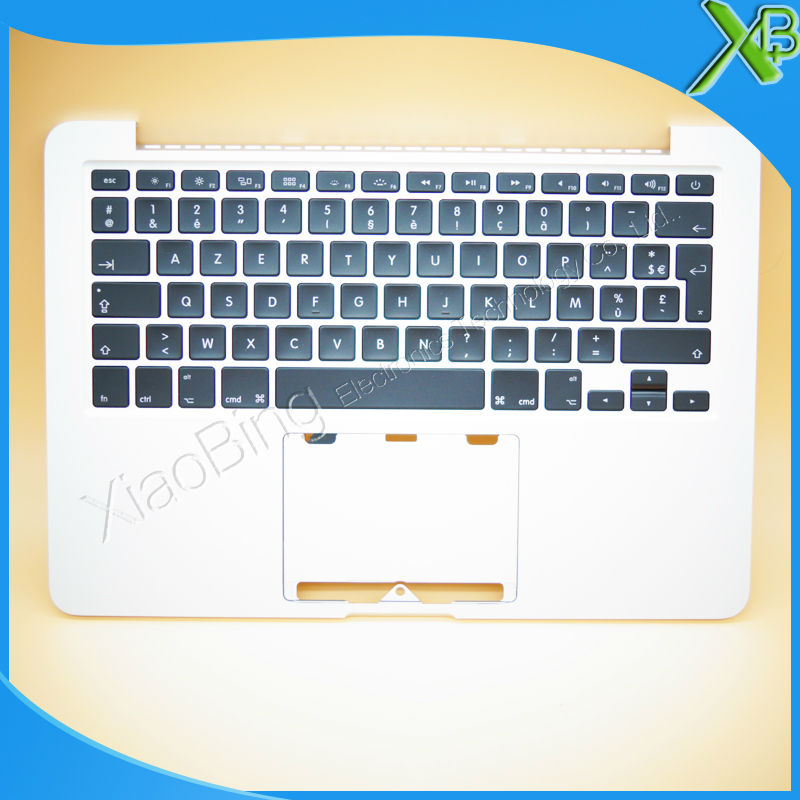 New TopCase with AZERTY FR French Keyboard for MacBook Pro Retina 13.3 A1502 2013-2014 years original new laptop a1708 azerty layout fr keyboards for macbook retina pro 13 inch a1708 french keyboard 2016 year replacement