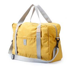 Image 2 - Дорожная сумка через плечо, большая Складная спортивная сумка для путешествий, кемпинга, портативная легкая багажная сумка, водонепроницаемая сумка для хранения