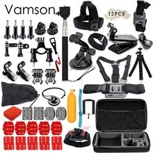 Gopro Accessories set for go pro hero 5 4 3 kit mount for SJCAM SJ4000 / xiaomi yi camera / eken h9 tripod VS84