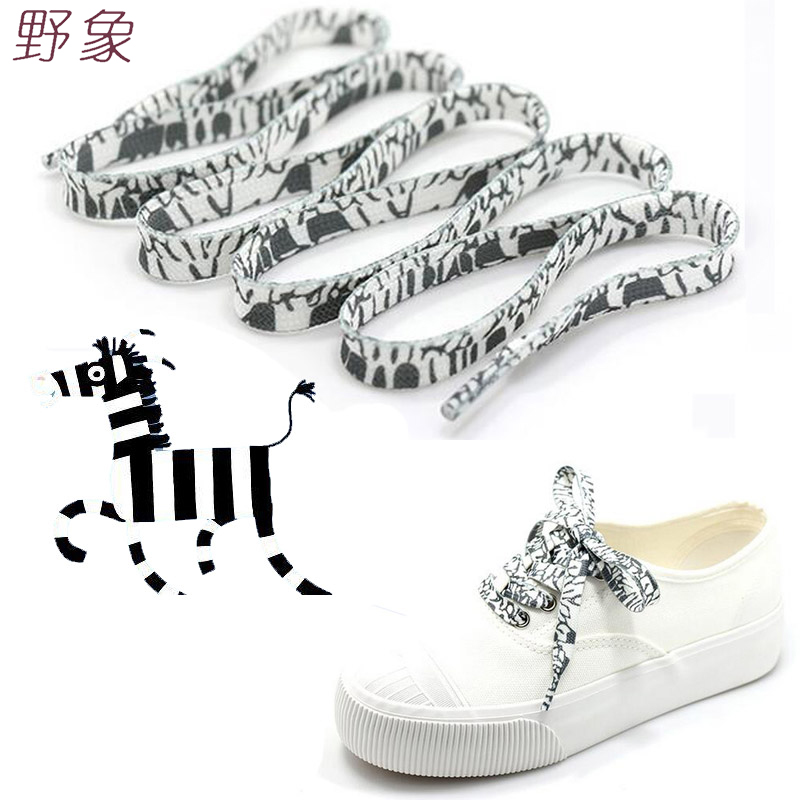 zebra Black and white shoelace decoration Pattern Colored Shoe Laces Flat Shoelace England Style Shoe Lacing Shoelaces printing 628 full ceramic bearing 1 pc 8 24 8 mm zro2 material 628ce all zirconia ceramic ball bearings