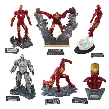 6pcs Iron Man 3 Action Figures PVC brinquedos Collection Figures toys for children christmas gift hot anime vocaloid hatsune miku action figures pvc brinquedos collection figures toys kids birthday christmas gift free shipping