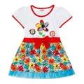 Novatx h4371 niños falsos dos piezas vestido de la muchacha del verano de dibujos animados lindo vestidos de los niños ropa de bebé vestidos de polka dot