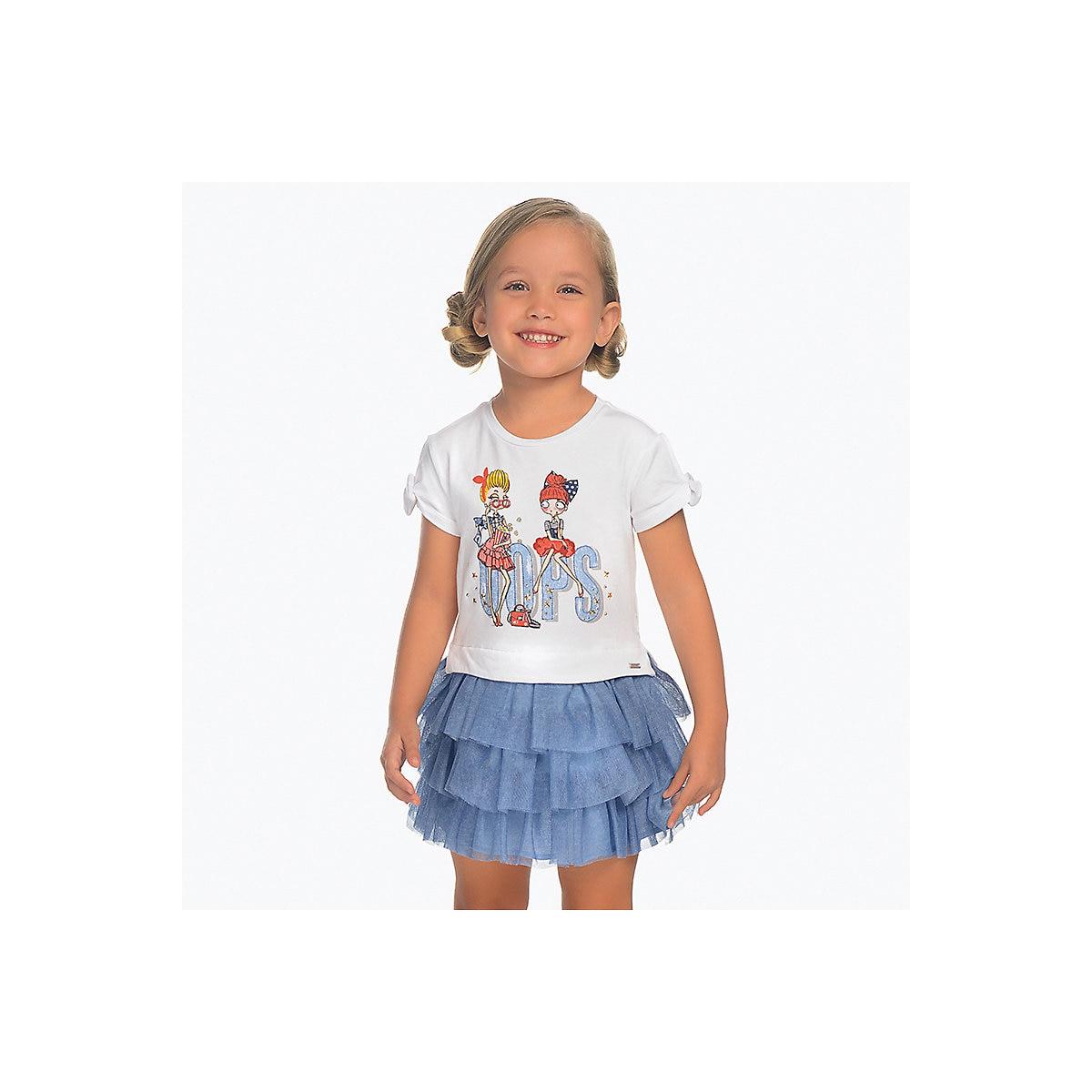 Vestidos Mayoral 10685213 vestido Casual con mangas cortas vestido de Sol para niñas