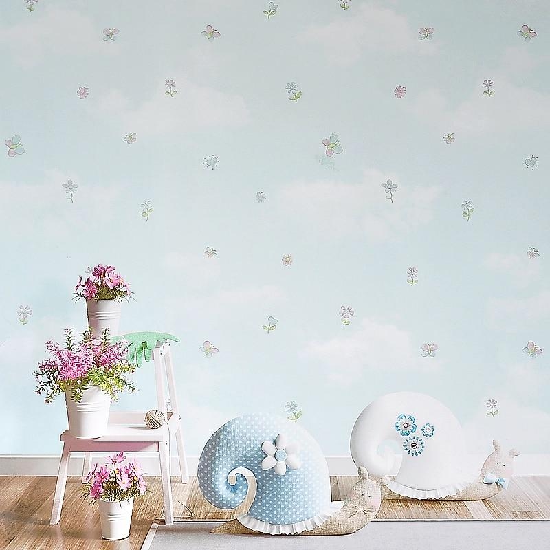 New Garden Small Floral Wallpaper Bedroom Environmentally Non Woven