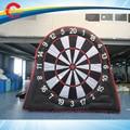 Único lados 3 m/10ft dardo jogo de futebol inflável, futebol inflável gigante dartd placas