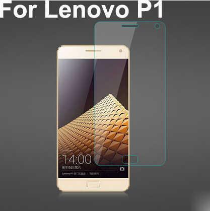 Untuk lenovo vibe p1 ultra tipis premium tempered kaca screen protector, untuk lenovo p1 kaca screen guard film cover kulit