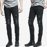 New Men S Jeans Summer Ripped Skinny Biker Jeans Destroyed Frayed Slim Fit Hole Rock Hip