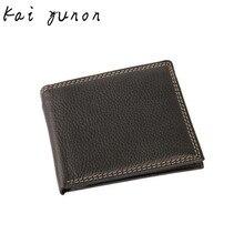 kai yunon Men Leather Card Cash Receipt Holder Organizer Bifold Wallet Purse Oct 2