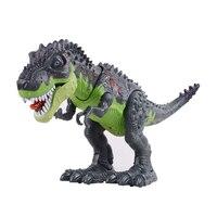 Dinosaurio eléctrico robot con intermitentes y sonar dinosaurios para juegos juguete eléctrico tamaño grande dinosaurio caminando con luz sonido
