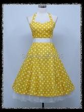 FREE SHIPPING R1143 rockabilly tartan dress vintage dress 1950s dress