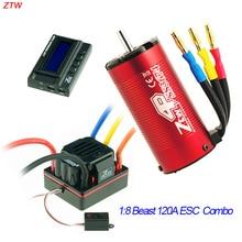 ZTW font b rc b font beast SS 120A sensorless ESC waterproof brushless motor 2150kv LCD