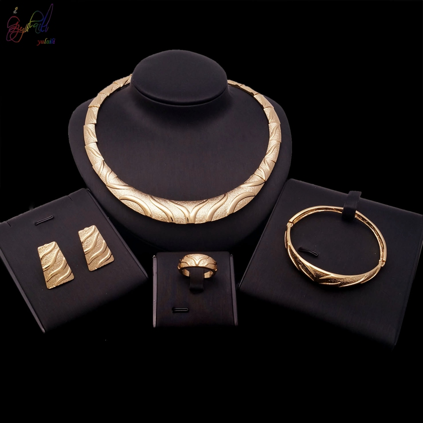 YULAILI 2018 New Coming Fashion Design High Quality Alloy Gold Color Jewelry Sets for Girls new coming smart design breast thermography inspection equipment for female self exam