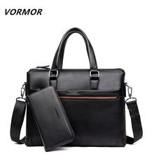 Vormor 2 комплекта сумки Для мужчин Курьерские Сумки из искусственной кожи человек Сумки Модные мужские Для Мужчин's Портфели человек Повседневное сумка