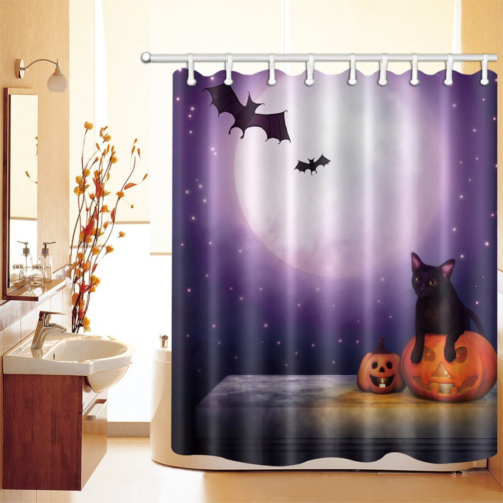 Waterproof Fabric Fairy Butterfly 180CM Shower Curtain Polyester Panels Bathroom
