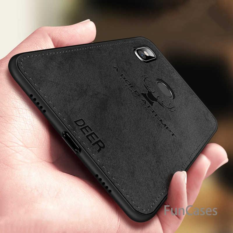 Para Xiaomi Redmi 6 funda de teléfono Redmi6 Pro cubierta trasera de silicona Borde de tela protectora Capas Coque Redmi 6 A tela de ciervo caso