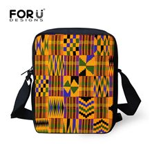 FORUDESIGNS Afrikaanse Traditionele Art Crossbody Tassen Voor Teenages Girls Retro School Messenger Bag Vrouwen Mannen Totes Dropshipping(China)