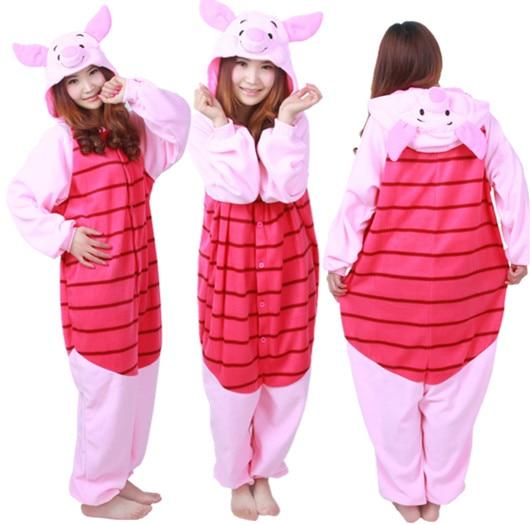 18c7163edabf Newest Cosplay Anime Pink Piglet Easter Bear Onesie Halloween Costumes  Adult Women Men Pajamas Christmas Jumpsuit Romper Fleece