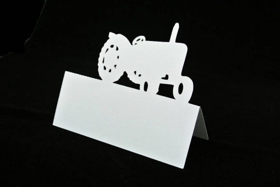 Vintage Tractor Place Cards Country Wedding Bridal Baby Shower