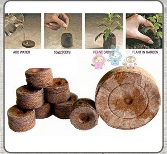 50 Count 38mm Jiffy Peat Pellets Seed Starting Plugs Seeds Starter Plant Nursery Pots Early Jeffy Soil Garden Pots & Planters