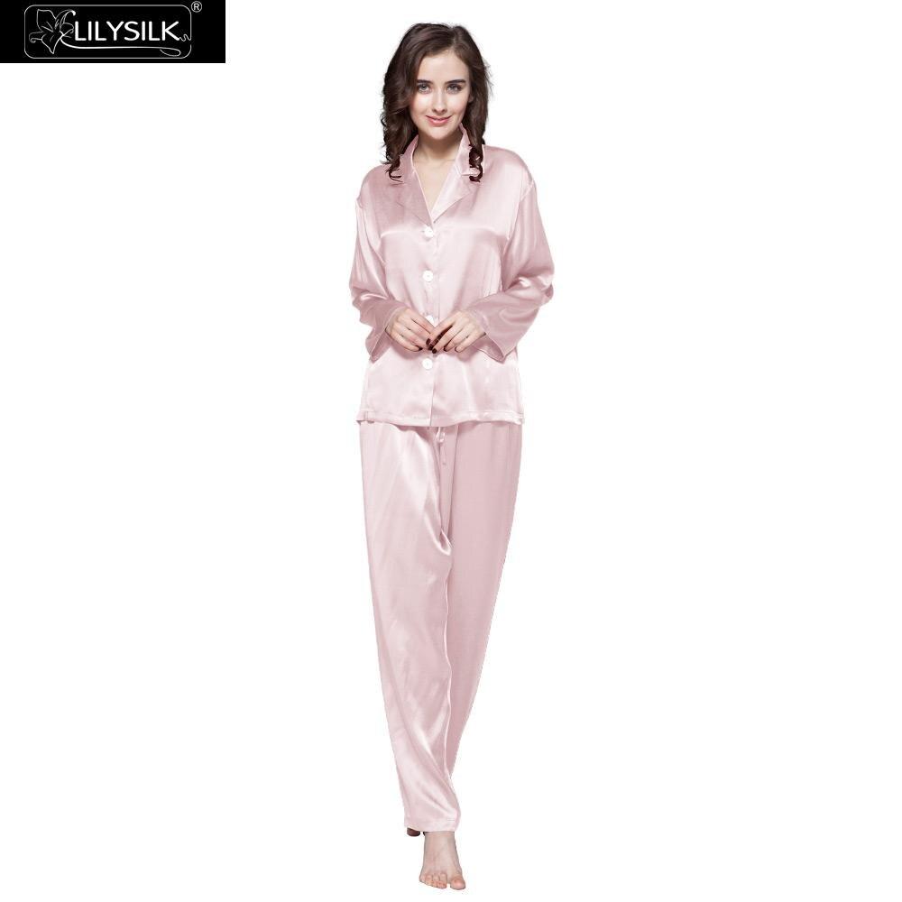 LilySilk Pajamas Set pijama pyjamas feminino Ladies Sleepwear Women Full Length Pure 100 Silk 22 momme
