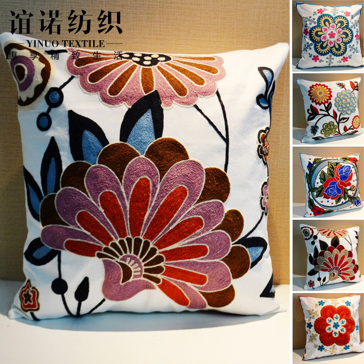 2016 Embroidered 05 Cushion Without Core Sofa Embroidery