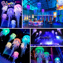 Personalized 2.5M inflatable decorating jellyfish balloon / led inflatable jellyfish balloon / inflatable led jellyfish toys