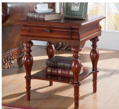 Американский диван шкафы края гостиная Круглый угол несколько круглый журнальный стол из массива дерева Европейский перила шкаф для хране...
