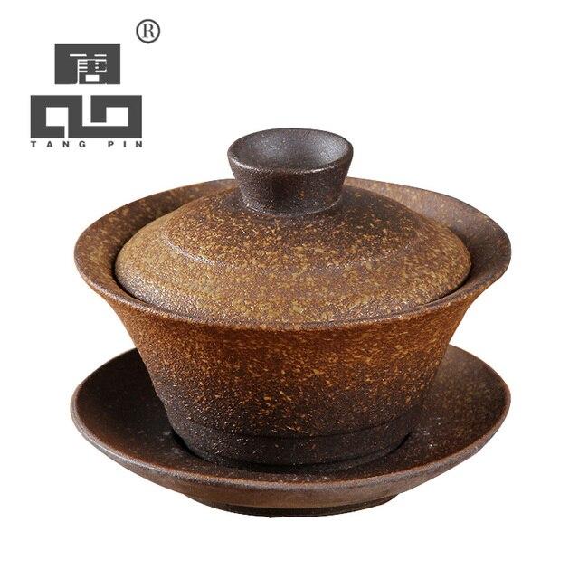 Tangpin Vintage Anese Ceramic Teapot Gaiwan Tea Cup Sets Kung Fu Set