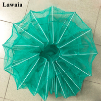 Lawaia Trap Fishing Nets Cage Automatic Lobster Cages Folding Fish Trap Monofilament Crawfish Crab Trap Hand throwing Network