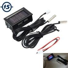 Red+Blue Dual Digital IC Tester LED Display IC Tester Meter Thermometer Temperature Sensor NTC Waterproof Metal Logic Probe