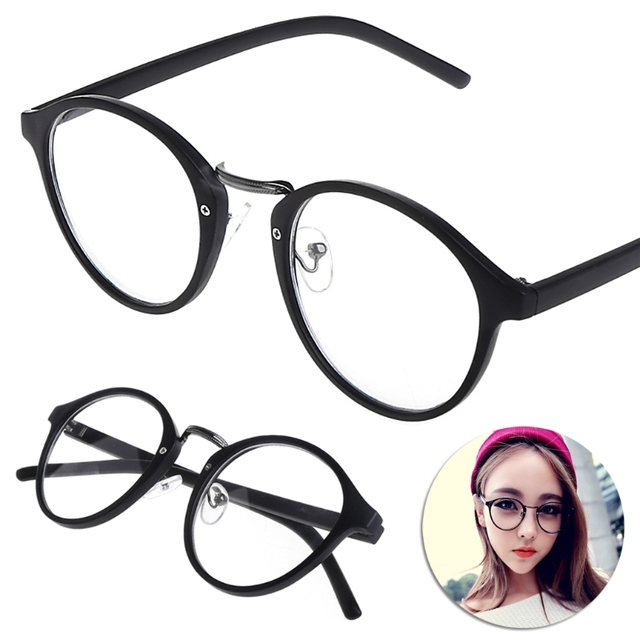 f0d49bc4fd53 Vintage Clear Lens Glasses Frame Men Women Unisex Retro Round Nerd Glasses  Fashion Fake Glasses Eye Glasses Frames