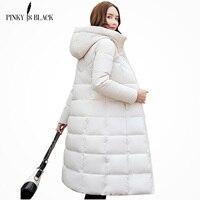 PinkyIsBlack winter jacket women hooded long parkas winter coat women wadded jacket outerwear thicken down cotton padded jacket